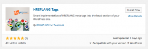 hreflang tags search result
