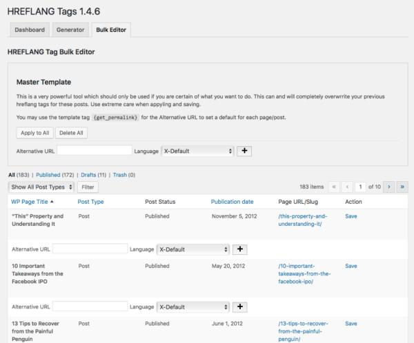 Bulk Editor Tool Screenshot